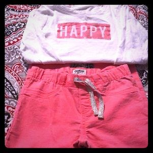 Oshkosh Happy long sleeved shirt and pants set Sz7